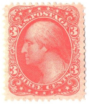 1877 3c Plate on proof paper, perf. 12, lithographed