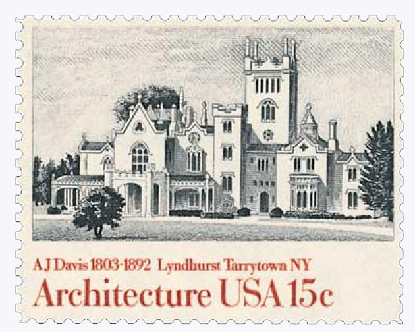 1980 15c American Architecture: Lyndhurst Tarrytown, NY