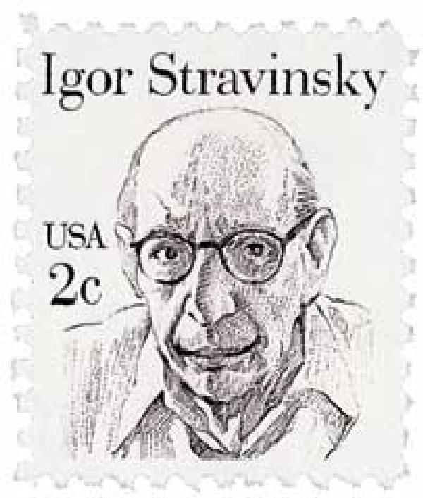 1982 2c Great Americans: Igor Stravinsky