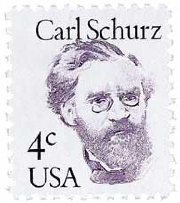 1983 4c Great Americans: Carl Schurz
