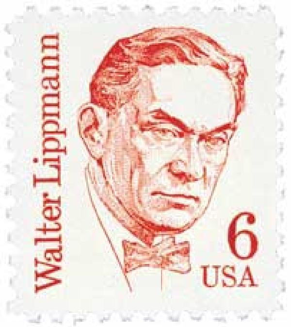 1985 6c Great Americans: Walter Lippmann