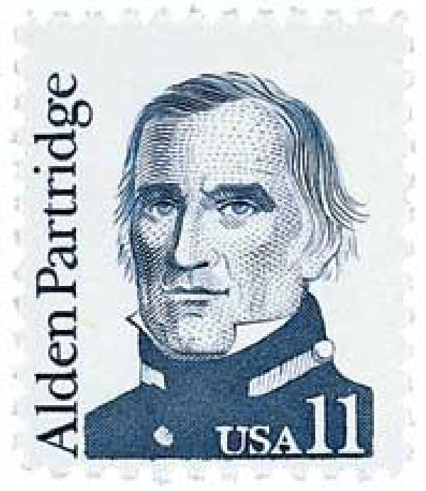 1985 11c Great Americans: Alden Partridge