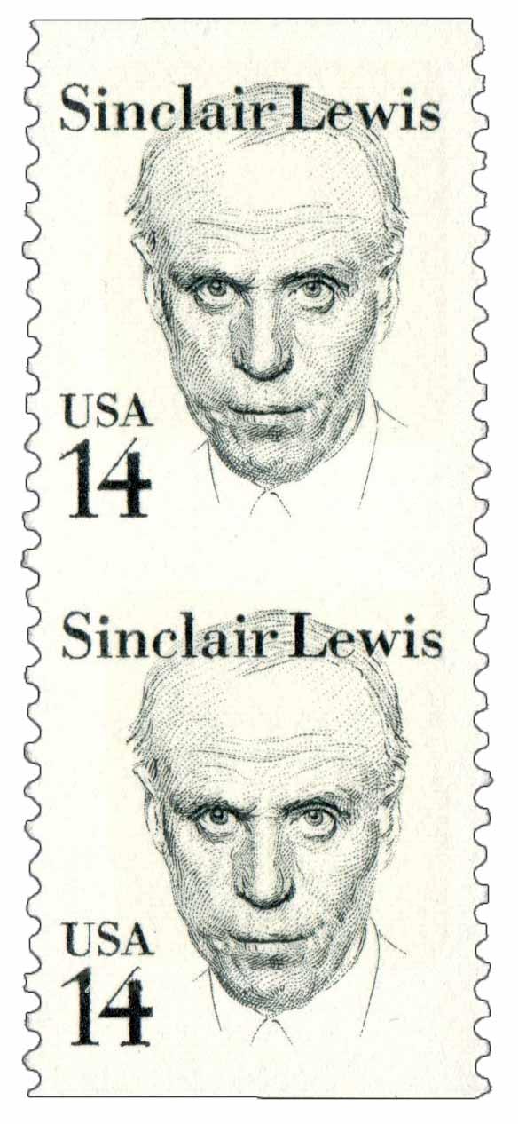 1985 14c S. Lewis, vert. pair, imp btwn