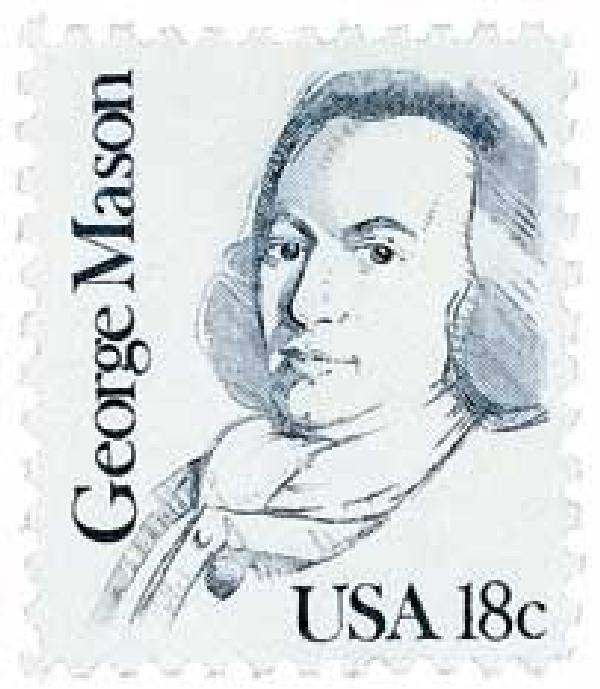 1981 18c Great Americans: George Mason