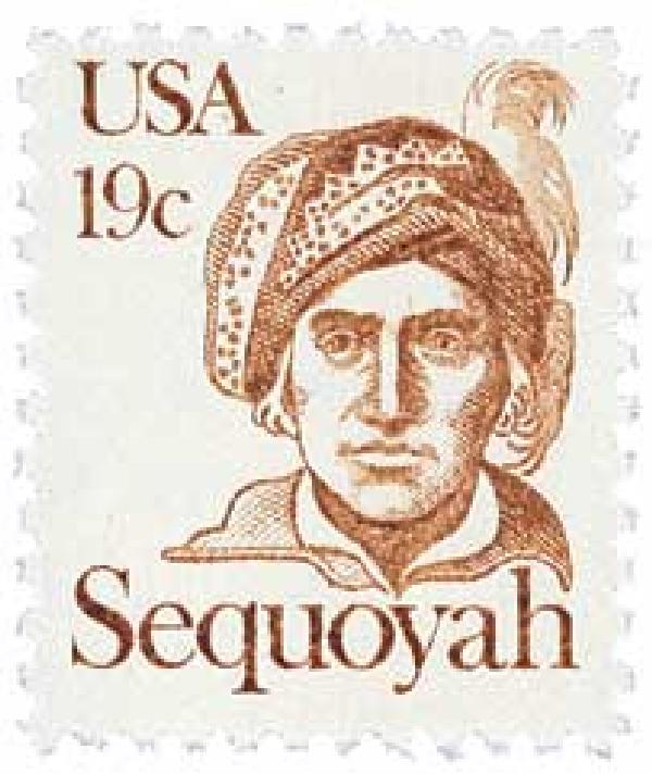 1980 19c Great Americans: Sequoyah