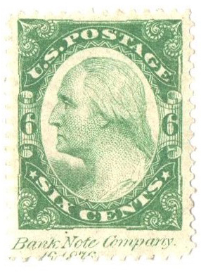 1877 6c Plate on stamp paper, perf 12