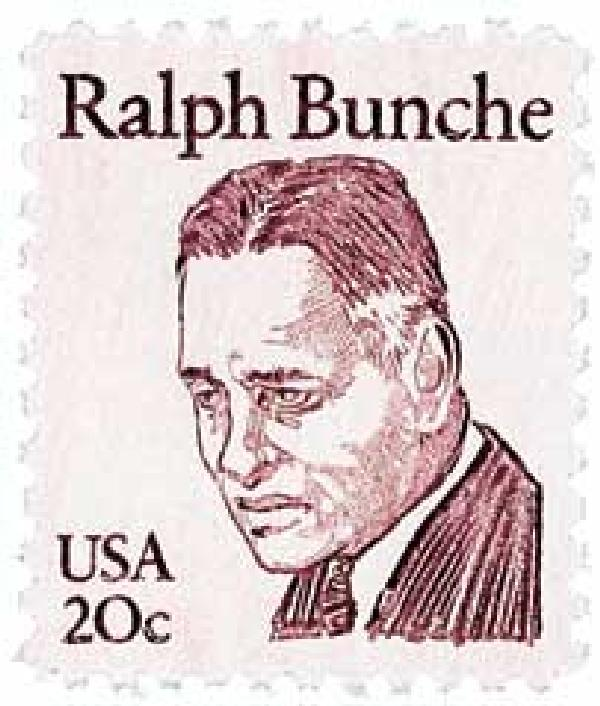1982 20c Great Americans: Ralph Bunche