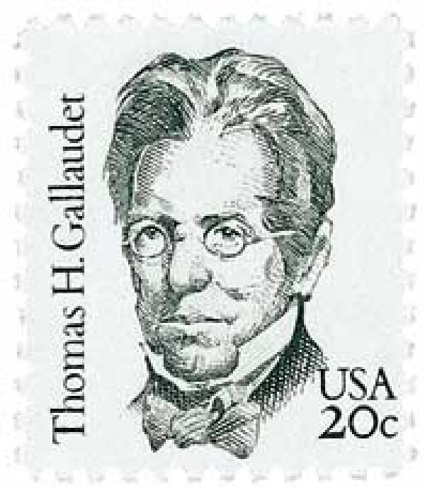 1983 20c Great Americans: Thomas H. Gallaudet