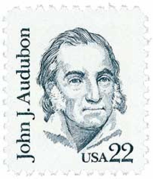 1985 22c John J. Audubon