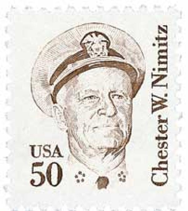 1985 50c Great Americans: Chester W. Nimitz