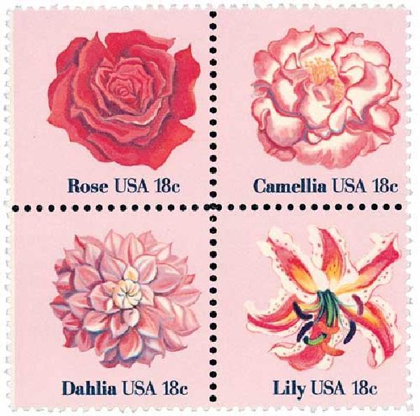 1981 18c Flowers