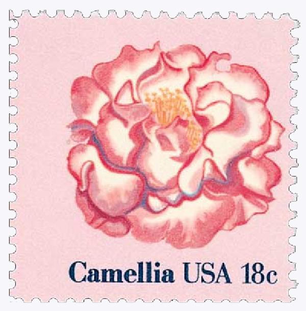 1981 18c Flowers: Camellia