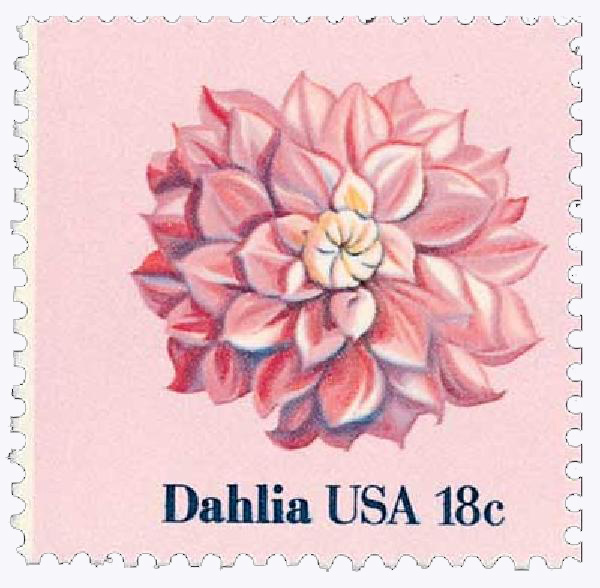 1981 18c Flowers: Dahlia