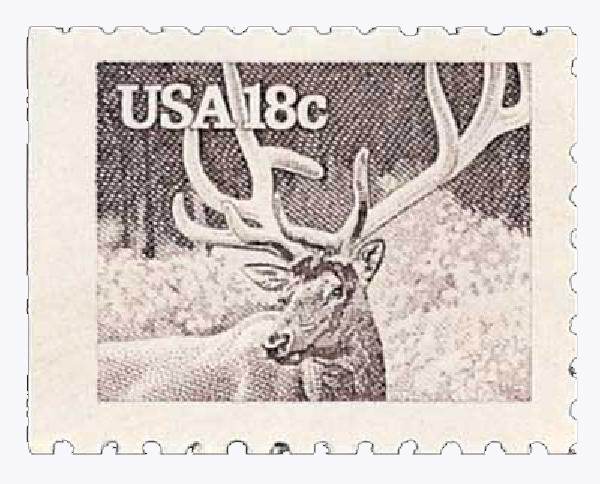 1981 18c Wildlife of America: Elk