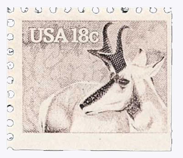 1981 18c Wildlife of America: Pronghorn Antelope