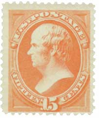 1879 15c Webster, red orange