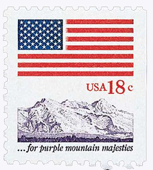 1981 18c Flags/Purple Mountains Majesties