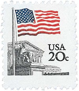 1981 20c Flag Over Supreme Court For Sale At Mystic Stamp Company