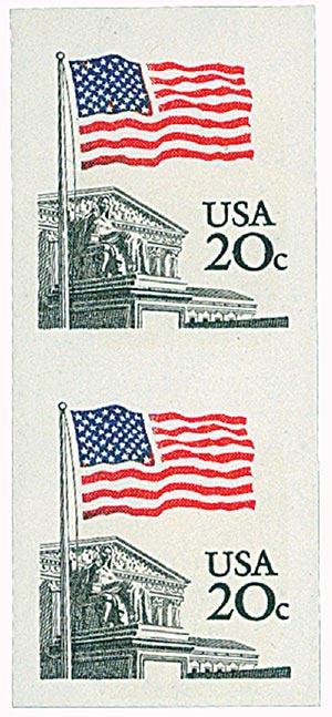 1981 20c Flag over Supreme Court impf