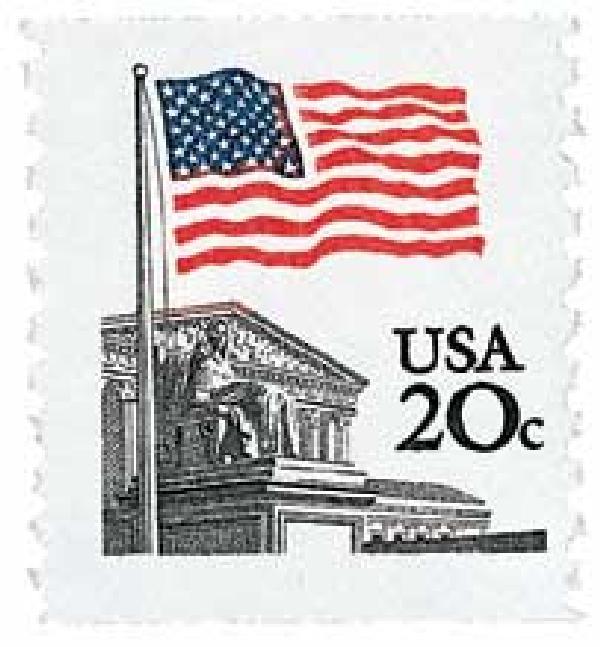 1981 Flag Over Supreme Court stamp