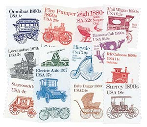 1981-84 Transportation Series, set of 14