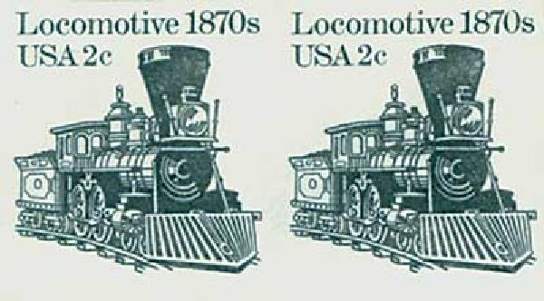 1982 2c Locomotive,imperf pair