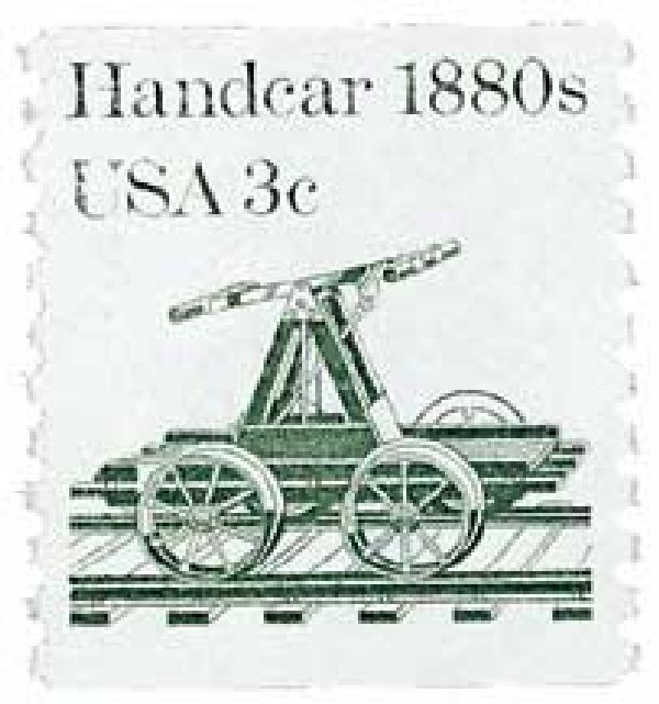 1983 3c Transportation Series: Handcar, 1880s