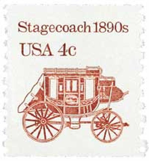 1982 4c Transportation Series: Stagecoach, 1890s
