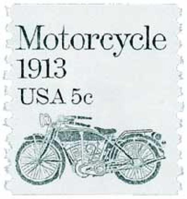 1983 5c Transportation Series: Motorcycle, 1913
