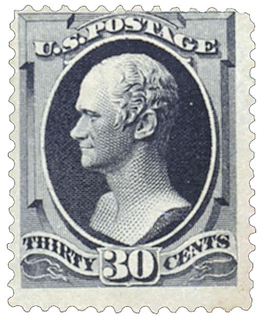 1879 30c Hamilton, full black