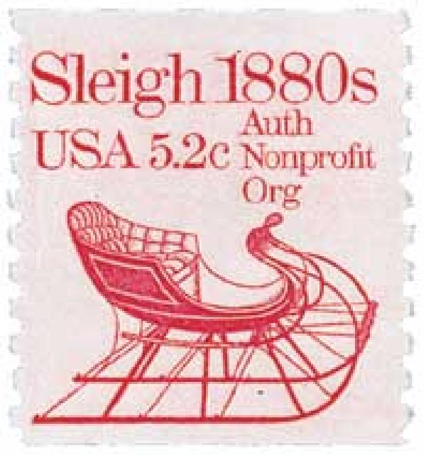1983 5.2c Transportation Series: Sleigh, 1880s