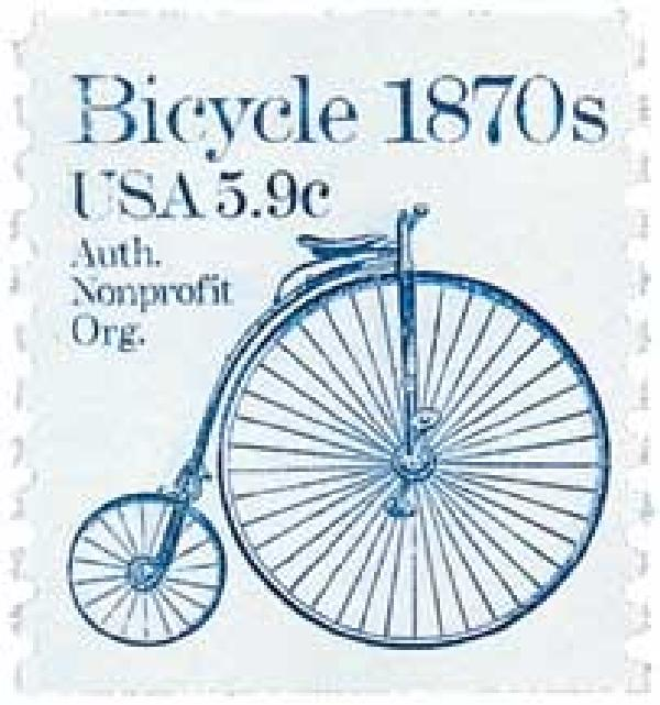 1982 5.9c Transportation Series: Bicycle, 1870s