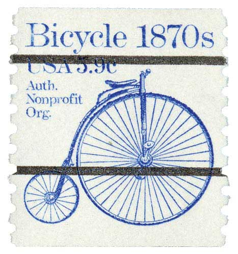 1982 5.9c Bicycle, precancel