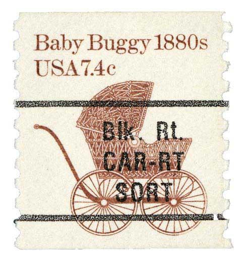 1984 7.4c Baby Buggy, precancel