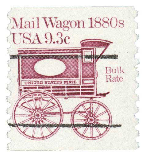 1981-84 9.3c Mail Wagon, precancel