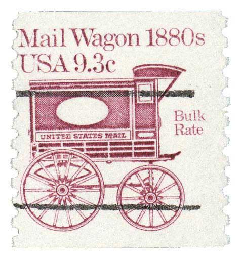 1981-84 9.3c Mail Wagon, precanceled
