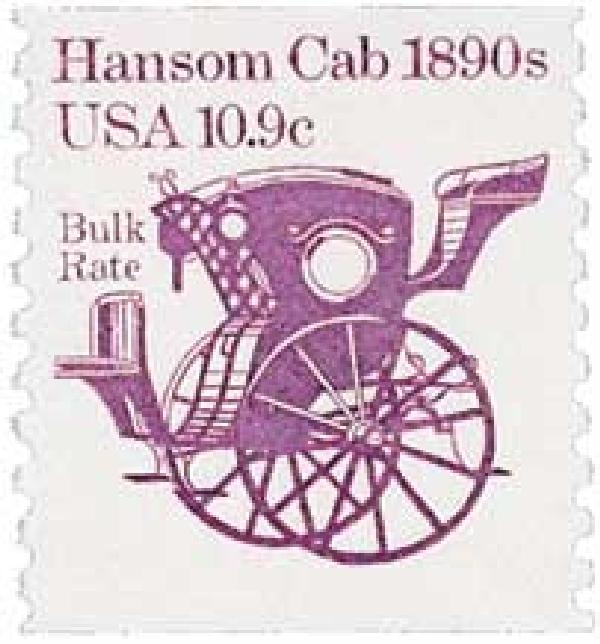 1982 10.9c Transportation Series: Hansom Cab, 1890s