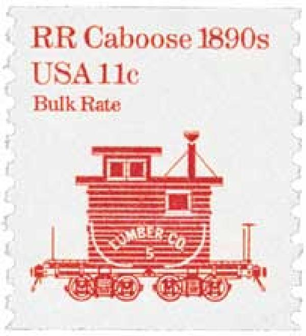1984 11c Transportation Series: RR Caboose, 1890s