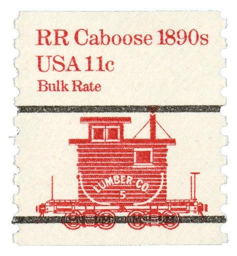 1981-84 11c RR Caboose, precanceled