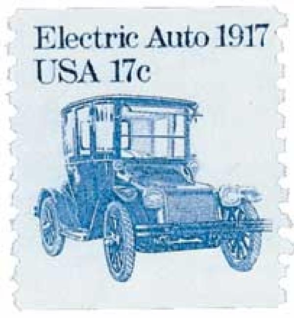 1981-84 17c Transportation Series: Electric Auto, 1917