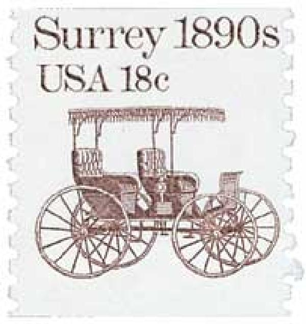 1981 18c Transportation Series: Surrey, 1890s