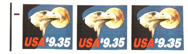 1983 $9.35 Eagle/Moon,bklt pane/3