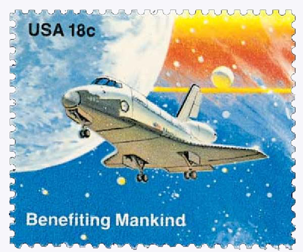1981 18c Space Achievement: Benefiting Mankind