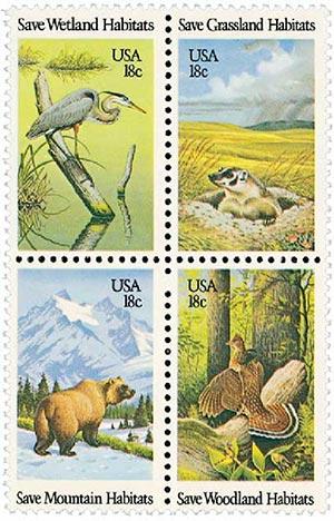 1981 18c Preservation of Wildlife Habitat