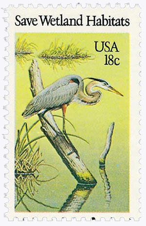 1981 18c Preservation of Wildlife Habitat: Save Wetland Habitats