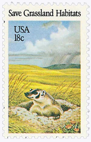 1981 18c Preservation of Wildlife Habitat: Save Grassland Habitats