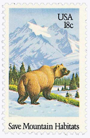1981 18c Preservation of Wildlife Habitat: Save Mountain Habitats