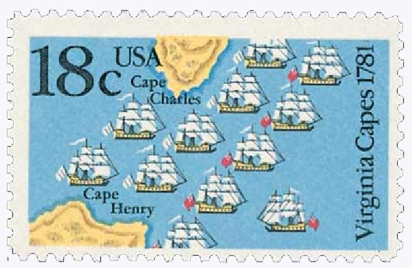 1981 18c Battle of the Virginia Capes