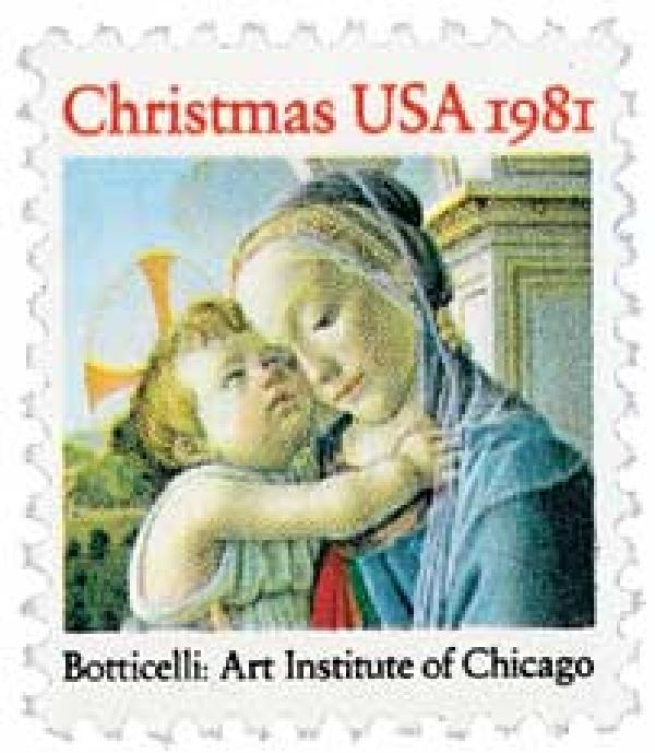 1981 20c Traditional Christmas: Madonna and Child