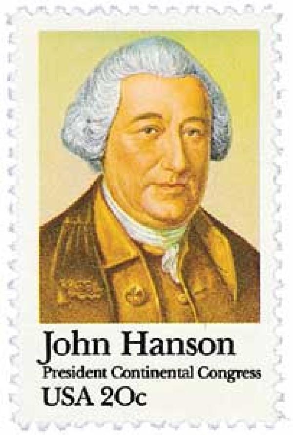 1981 20c John Hanson